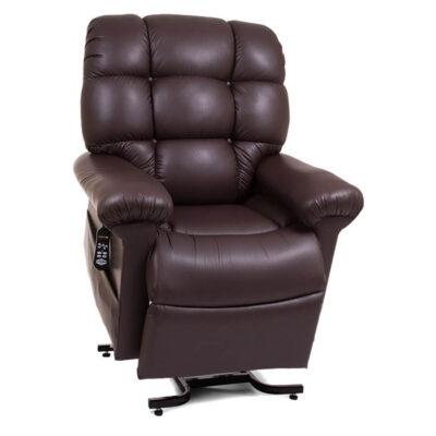 Golden Maxicomfort cloud power lift recliner - coffee bean - Lifted position
