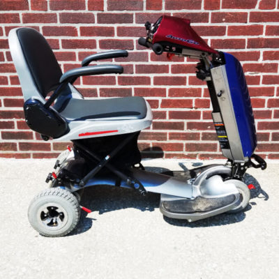 Rascal AutoGo folding mobility scooter with carrier