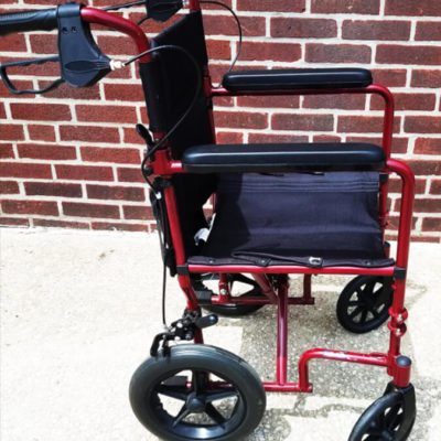 Drive red folding wheelchair