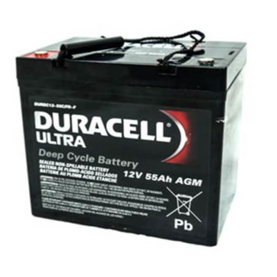 Duracell Ultra AGM WKDC12-55C rechargeable mobility battery