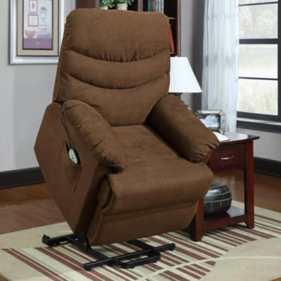 Power Lift Chair in Brown 9769BR-1LT