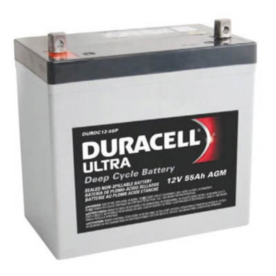duracell ultra agm wkdc12-55p rechargeable mobility battery