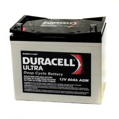 duracell ultra agm wkdc12-80p rechargeable mobility battery