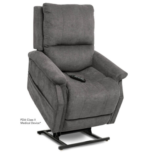 Viva Lift power lift recliner - Metro Collection - Saville Grey - Lifted position