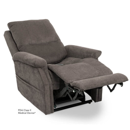 Viva Lift power lift recliner - Metro Collection - Saville Grey - Reclined position