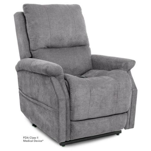 Viva Lift power lift recliner - Metro Collection - Saville Grey - Seated position