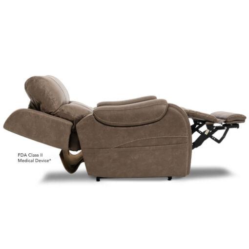 Viva Lift power lift recliner - Atlas Collection - Badlands Mushroom - Profile with power headrest
