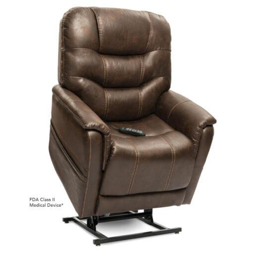 Viva Lift power lift recliner - Elegance Collection - Badlands Walnut - Lifted position