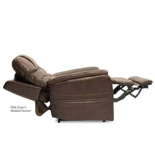 Viva Lift power lift recliner - Elegance Collection - Badlands Walnut - Profile with power headrest