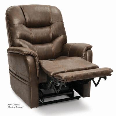 The Pride Viva Lift power lift recliner - Elegance Collection - Badlands Walnut - Reading position