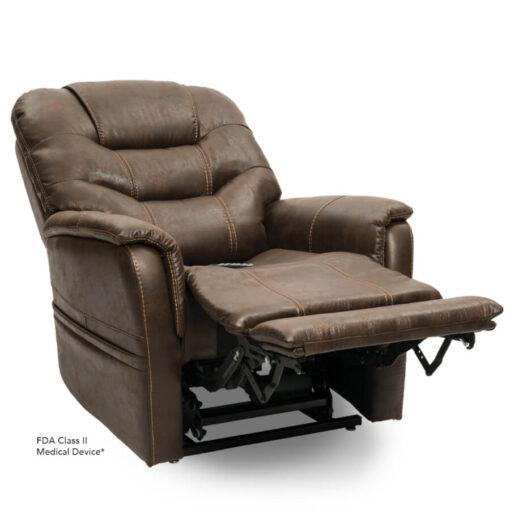 Viva Lift power lift recliner - Elegance Collection - Badlands Walnut - Reclining position