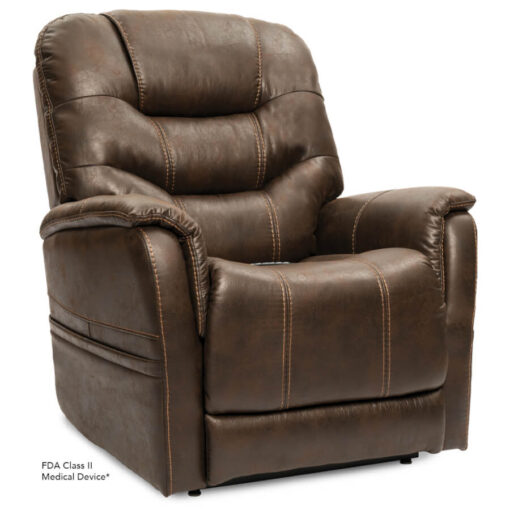 Viva Lift power lift recliner - Elegance Collection - Badlands Walnut - Seated position