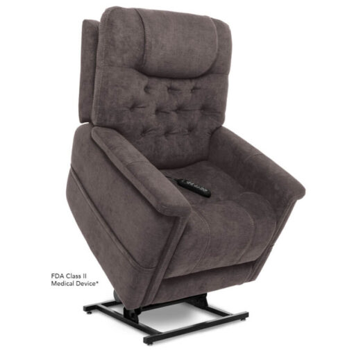 Viva Lift power lift recliner - Legacy Collection - Saville Grey - Lifted position