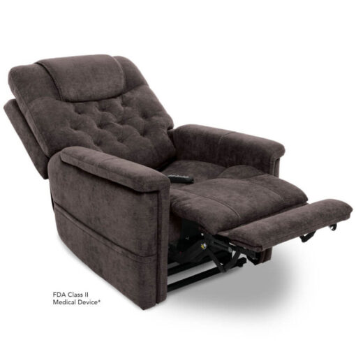Viva Lift power lift recliner - Legacy Collection - Saville Grey - Reclined position