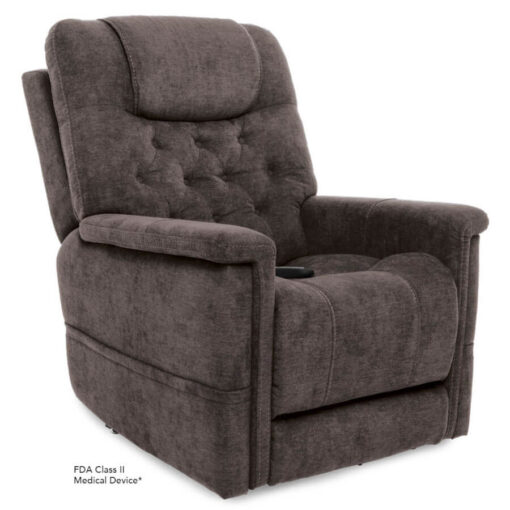 Viva Lift power lift recliner - Legacy Collection - Saville Grey - Seated position