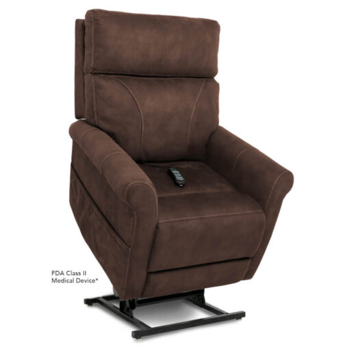 Viva Lift power recliner - Urbana Collection - Stonewash Granite - Lifted position