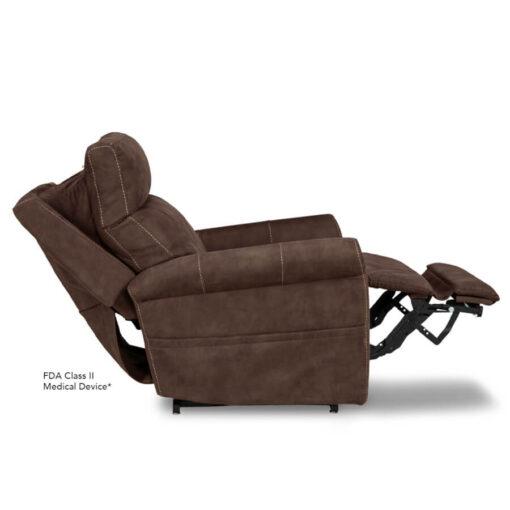Viva Lift power recliner - Urbana Collection - Stonewash Granite - Profile with power headrest