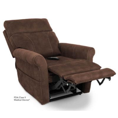 Viva Lift power recliner - Urbana Collection - Stonewash Granite - Reclining position