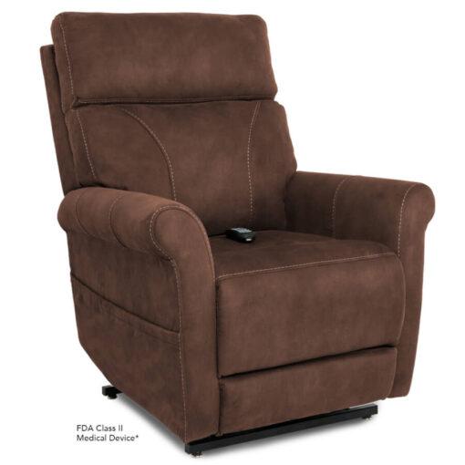 Viva Lift power recliner - Urbana Collection - Stonewash Granite - Seated position