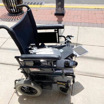 Nutron R51 power wheelchair - side view