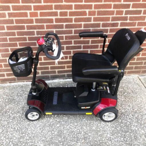 GoGo Elite Traveller mobility scooter - left side view