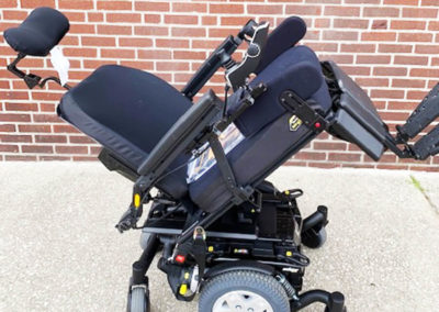 Quantum's Edge HD Power Wheelchair - tilted back