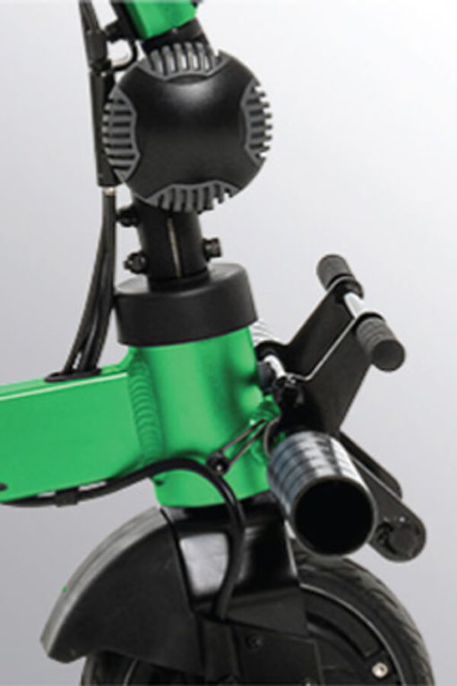 iRide scooter - front brakes detail