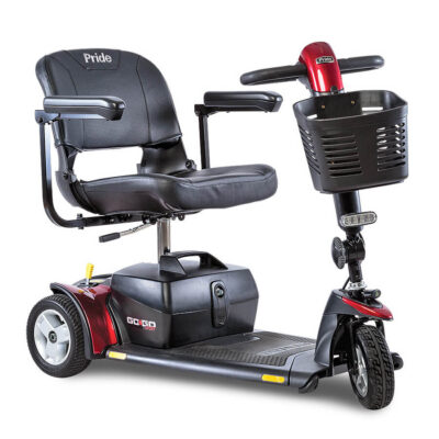 GoGo Sport 3 wheel mobility scooter in red
