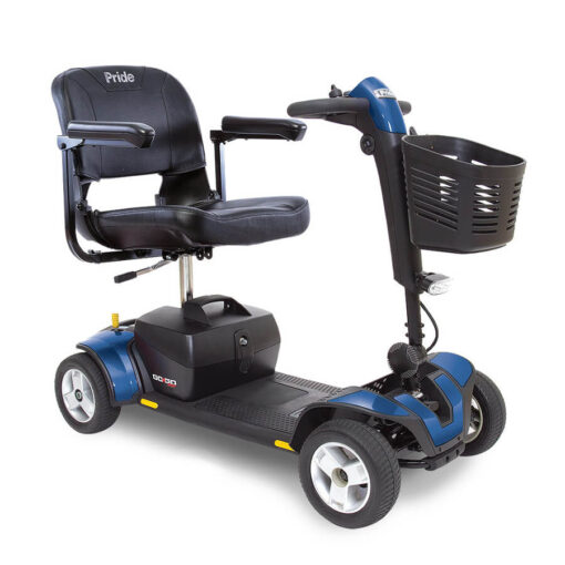 GoGo Sport 4 wheel mobility scooter in blue
