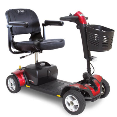 GoGo Sport 4 wheel mobility scooter in red