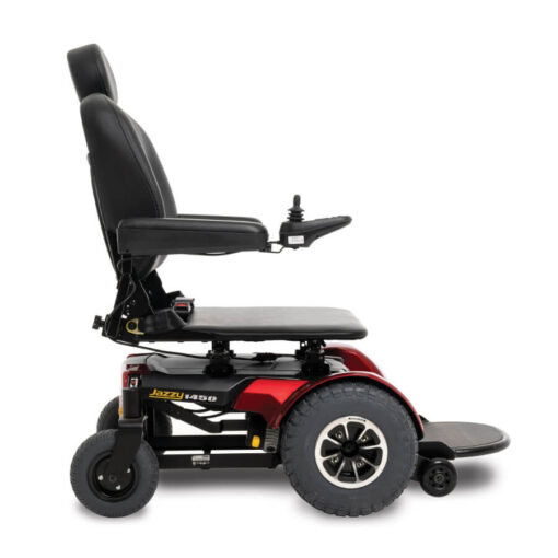 Jazzy 1450 - red - flat seat - right profile