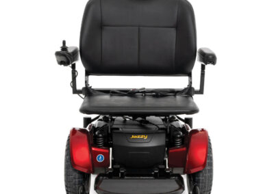 Jazzy 1450 - red - front view - flat seat