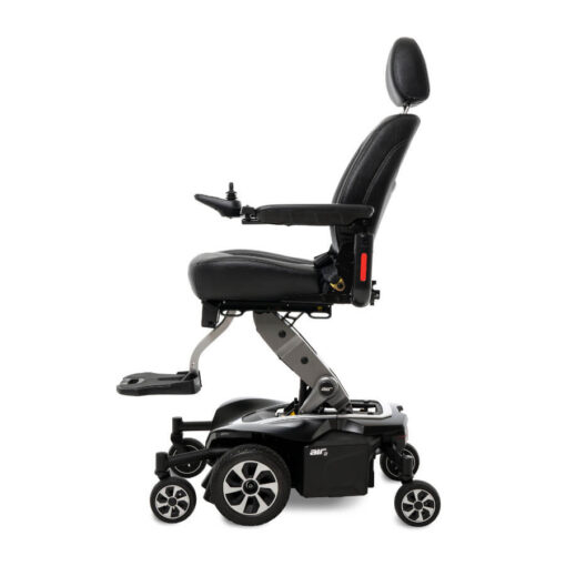 Jazzy Air 2.0 powerchair in black, left profile