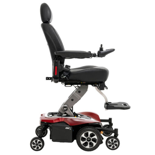 Jazzy Air 2.0 powerchair in ruby red, right profile