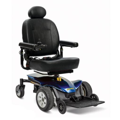 Jazzy Elite ES-1 powerchair in blue