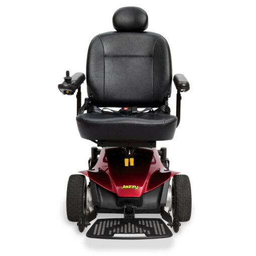 Jazzy Elite ES Portable powerchair in red, front view