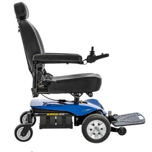 Jazzy Elite ES powerchair in blue, right profile