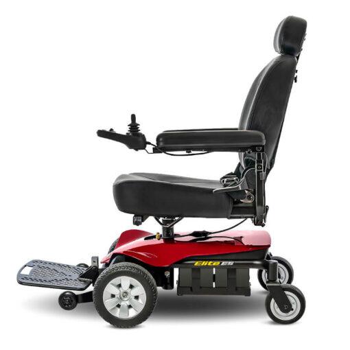 Jazzy Elite ES powerchair in red, left profile