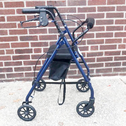 Drive Medical foldable rollator - blue - right profile