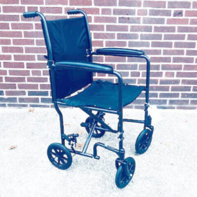 Invacare Transport foldable wheelchair - angled left
