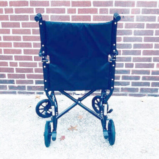 Invacare Transport foldable wheelchair - back view