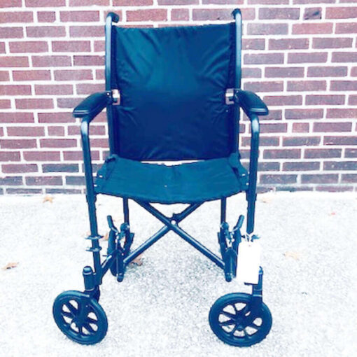 Invacare Transport foldable wheelchair - front view