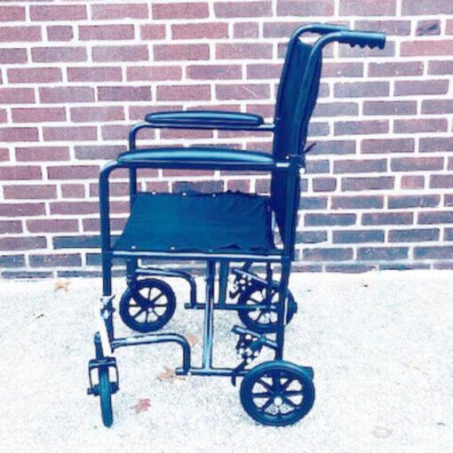 Invacare Transport foldable wheelchair - left profile