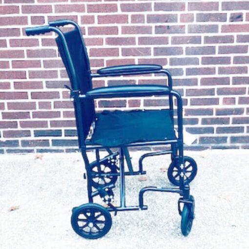 Invacare Transport foldable wheelchair - right profile
