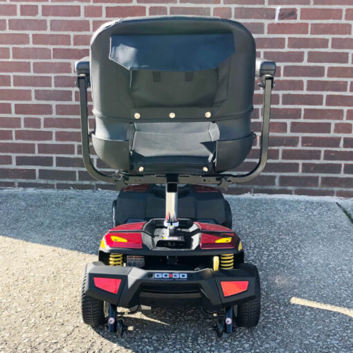 Pride GoGo LX with CTS Suspension four wheel mobility scooter - red - rear view