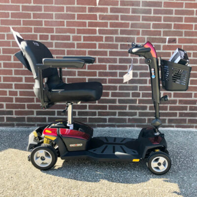 Pride GoGo LX with CTS Suspension four wheel mobility scooter - red - right side view