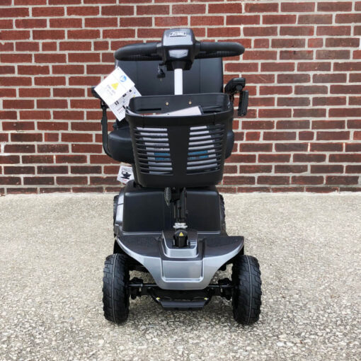 Pride Revo 2.0 four wheeled mobility scooter - black - front view