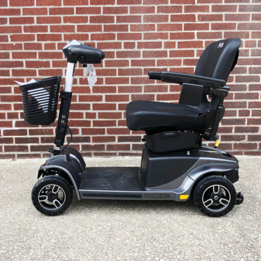 Pride Revo 2.0 four wheeled mobility scooter - black - left side view