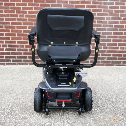 Pride Revo 2.0 four wheeled mobility scooter - black - rear view
