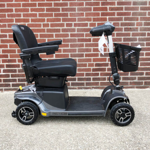 Pride Revo 2.0 four wheeled mobility scooter - black - right side view